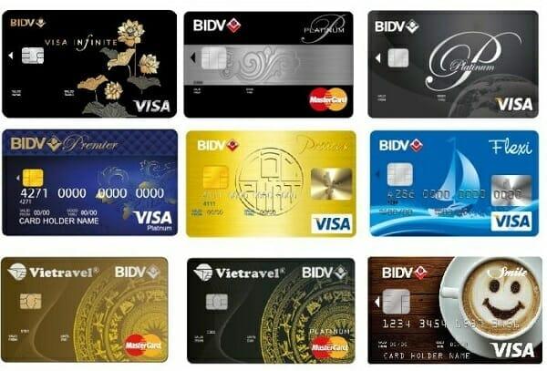 Các loại thẻ tín dụng BIDV