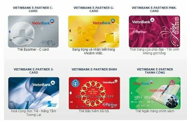 Các loại thẻ tín dụng Vietinbank