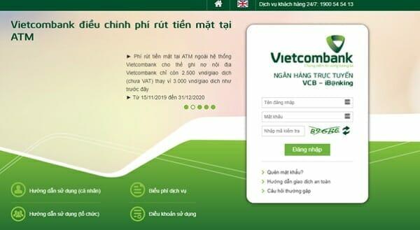 Cách đăng ký VCB iBanking