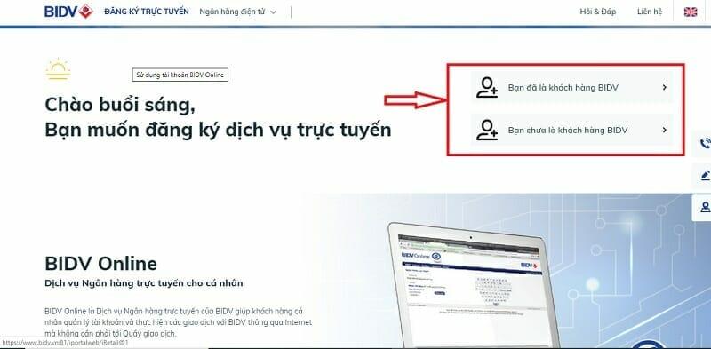 Mở thẻ tín dụng BIDV Online