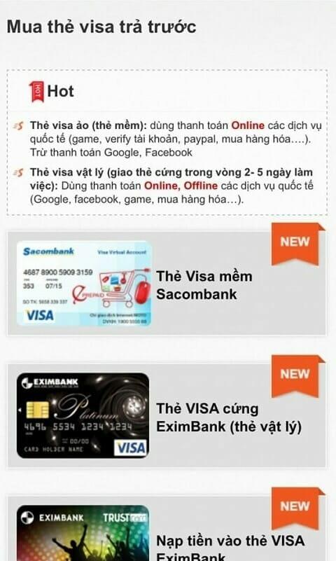 thanh toan paypal bang visa ao
