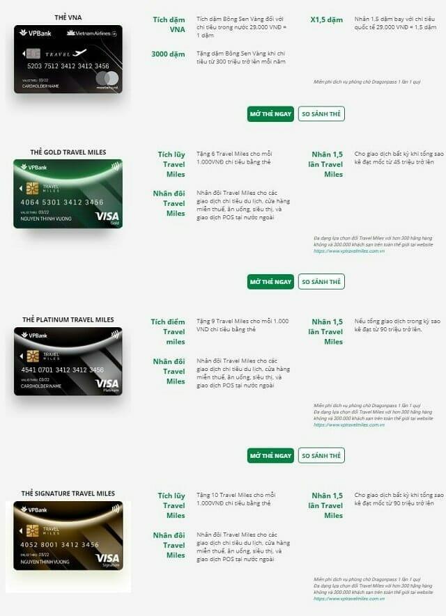 Thẻ tín dụng du lịch VPBank