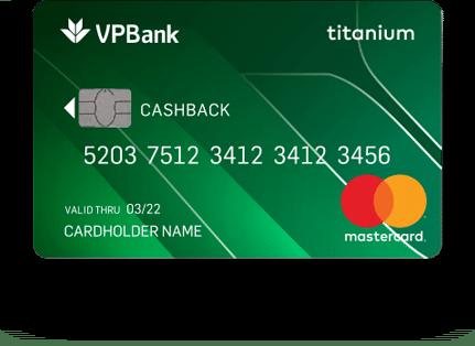 Thẻ tín dụng Titanium Cashback
