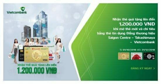 Ưu đãi khi sử dụng thẻ tín dụng VCB
