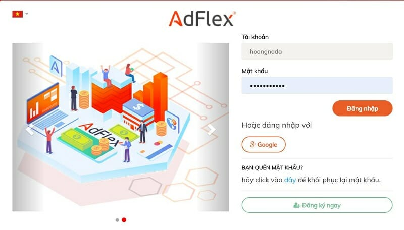 Đăng nhập Adflex