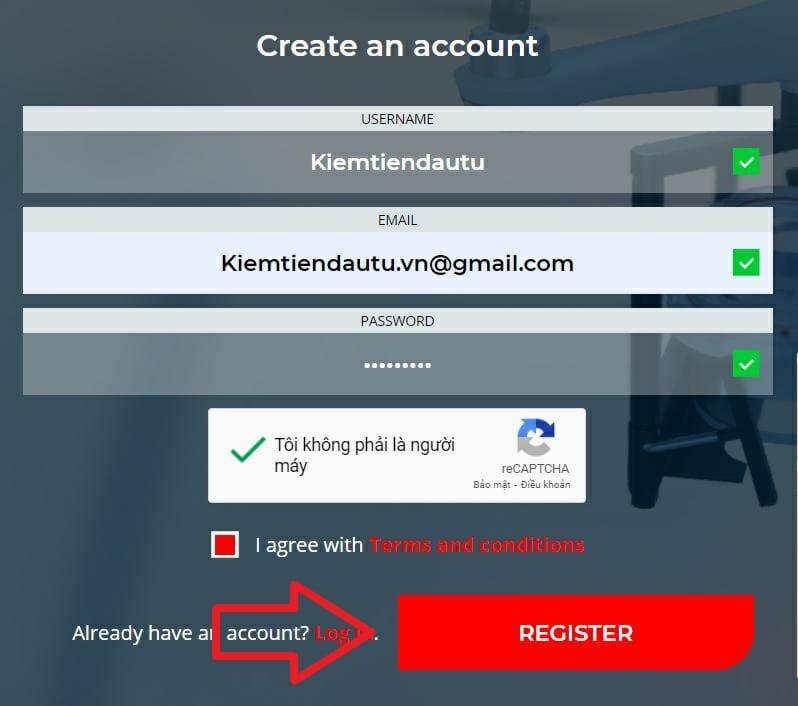 Hướng dẫn đăng ký tài khoản Picus