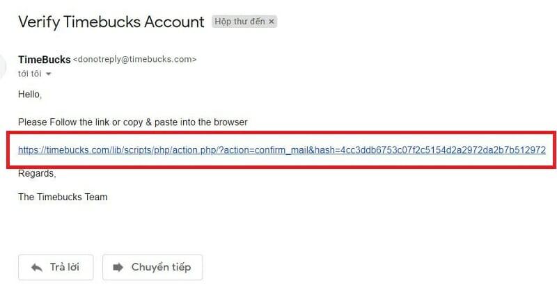 xac minh email dang ky timebucks