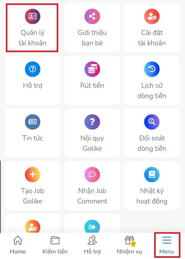 Hướng dẫn liên kết Golike với Facebook