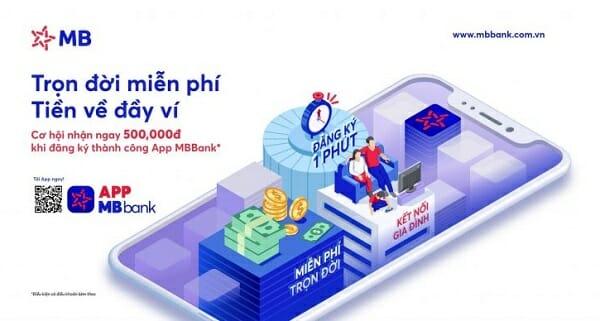 Cơ hội nhận 500K khi đăng ký APP MB Bank