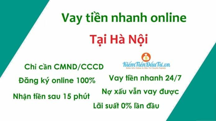 Vay tiền online nhanh Hà nội chỉ cần CMND/CCCD