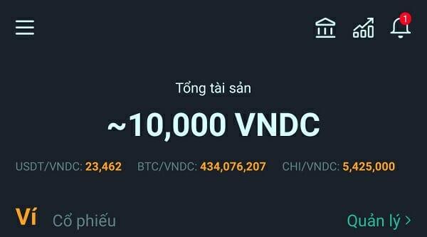 Tài khoản VNDC được xác thực thành công